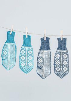 "Sandnes garn | ""Fana"" votter Mittens Pattern, Fair Isle Knitting, Hand Warmers, Ravelry, Needlework, Diy And Crafts, Inspiration, Knits, Hands"