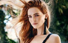 Our black tassel earrings on Zoey Deutch in this month's Cosmopolitan.