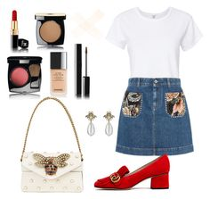 """""""Untitled #88"""" by mikovatanya on Polyvore featuring RE/DONE, STELLA McCARTNEY, Gucci and Chanel"""