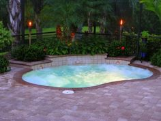small pool - simple and relaxing, this is all i want in my backyard..
