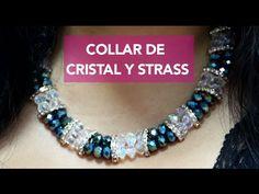 Como hacer Tejido de Perla y Cristal para Pulseras: -24 Perlas (No.6) -Mostacillas checas -3 Cristales rombo (No.4) -10 Sonrisitas -Broche T -3 Argollas (No....