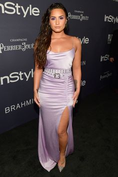 Demi Lovato and Selena Gomez sport leggy looks at InStyle Awards Kate Bosworth, Alexandre Vauthier, Lola Consuelos, Revista Instyle, Demi Lovato Style, Demi Lovato Dress, Champagne, Prom Photos, Prom Pictures