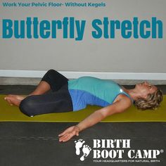 lying butterfly stretch strengthen the pelvic floor