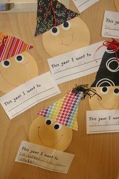 Kindergarten Korner: Happy New Year Classroom Crafts, Classroom Activities, Preschool Crafts, Preschool Activities, Classroom Ideas, Preschool Supplies, Classroom Board, Bulletin Boards, New Year's Crafts