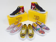 the beatles vans sneakers 01 The Beatles x Vans Yellow Submarine Collection