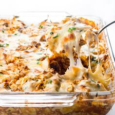 Easy Lazy Cabbage Roll Casserole Recipe - Low Carb - This easy lazy cabbage roll casserole recipe without rice is quick to make using common ingredients. Using cauliflower rice makes it healthy, low carb, and delicious. It's the best cabbage roll casserole ever! Naturally keto and gluten-free, with paleo and whole30 options.