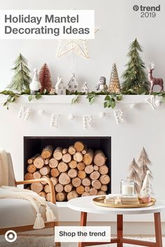 Fulfill all of your holiday mantel decorating ideas with Target. Discover everything from minimalist to vibrant, with a collection to suit every taste. Tap the Pin to shop the trends. Christmas Fireplace, Christmas Mantels, Cozy Christmas, Modern Christmas, Rustic Christmas, Fireplace Mantel, Christmas Quotes, Christmas 2019, E Design