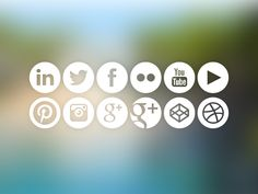 Social Media Icons - Freebbble