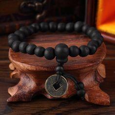 Vintage Tibetan Wu on Sandalwood Bracelet