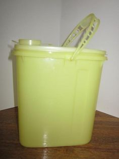 Kool-aide in a Tupperware container...