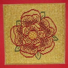 Lancaster Rose - new or nue goldwork embroidery kit from www.alisoncoleembroidery.com.au