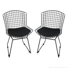 Cadeira Bertóia CM0005 2 Peças Preto - Mobizza | Lojas KD