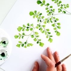 people to draw Watercolor Tips, Watercolor Leaves, Watercolor Techniques, Watercolor Cards, Watercolour Painting, Floral Watercolor, Watercolours, Illustration Blume, Botanical Illustration