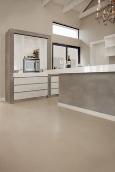 white screed floors - Google Search