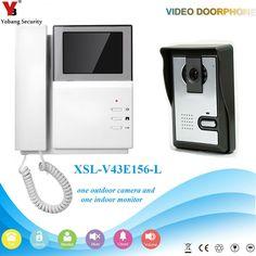 "76.17$  Buy here - http://alid1k.shopchina.info/1/go.php?t=32778190308 - ""YobangSecurity Video Intercom 4.3""""inch Video Door Phone Intercom Doorbell Unlock Indoor Monitor Rainproof Night Vision Camera""  #magazineonlinewebsite"