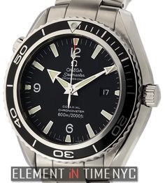 #Omega #Seamaster Planet Ocean 45mm iN Stainless Steel With A Black Arabic Dial (2200.50.00)