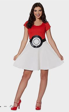 Pokeball Dress - Pokemon Halloween Costume - Spirit Halloween