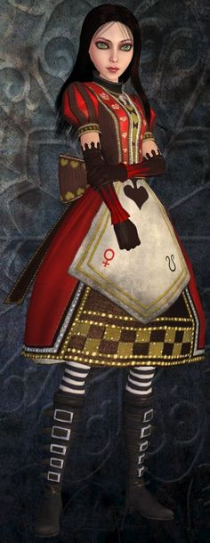 This is the costume I'm making for Halloween!  Royal Suit - American McGee's Alice the Madness Returns: