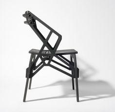 konstantin ackhov: frame chairs (cnc puzzle joints no glue/screws) Cool Furniture, Furniture Design, Smart Design, Furniture Collection, Wood Design, Drafting Desk, Chair Design, Plywood, Contemporary Design