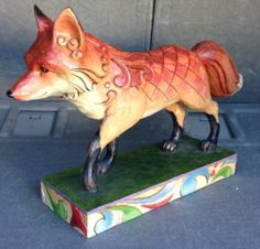 Jim Shore Heartwood Creek Fox Garden Statue by Enesco 4009752 Retired Large