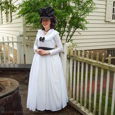 The Midnight Chemise a la Reine in Colonial Williamsburg ~ American Duchess