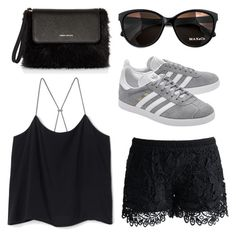 """""""🦋🥑🥑"""" by peytongirl on Polyvore featuring Chicwish, adidas Originals, Max&Co. and Karen Millen"""