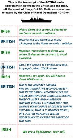 The Irish Trolling the British! Doing it Right!