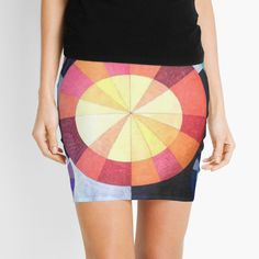 'Stellar' Mini Skirt by SavantArtist Sell Your Art, Knitted Fabric, Abstract Art, Fashion Accessories, Mini Skirts, Knitting, Color, Tricot, Mini Skirt