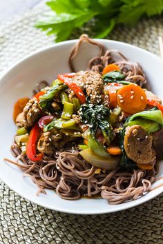 Teriyaki Pork Noodle Bowl ready in under 30 minutes and make your own teriyaki sauce from scratch! Asian Noodle Recipes, Asian Recipes, Ethnic Recipes, Bacon Recipes, Healthy Recipes, Savoury Recipes, Quick Summer Meals, Pork Noodles, Asian Noodles