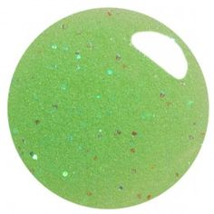 Sofia -Sheer Spring Green with a Flash of Aqua Iridescent Glitter that also glows in the dark!