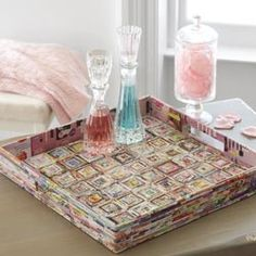 Recyleled Paper Tray. Can be made with your favorite colors! Use Heavy Paper