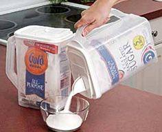 Sugar and Flour Dispensers | Necessary Objects: Holiday Baking Tools #bakingtools #sassterhood #organizedkitchen