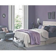 Secrets To Getting Your Girlfriend or Boyfriend Back - How to work the Lilac and Grey colour scheme into your home How To Win Your Ex Back Free Video Presentation Reveals Secrets To Getting Your Boyfriend Back Lilac Bedroom, Purple Bedrooms, Bedroom Wall Colors, Bedroom Color Schemes, Room Ideas Bedroom, Home Decor Bedroom, Bedroom Ideas Purple, Colour Schemes, White Bedroom