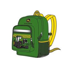 ab52d3d9a0 John Deere Green Backpack with Tractor – GreenToys4u.com Green Backpacks