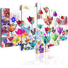 Cuadro abstracto flores de colores