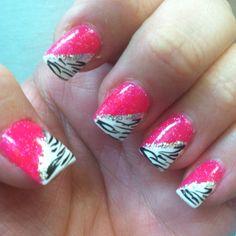 Zebra print and hot pink. My favorites :)
