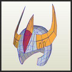 Saint Seiya - Phoenix Ikki Helmet Free Papercraft Download…