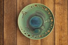 Ceramic plates Dragonfly Decorative ceramic pottery bowl