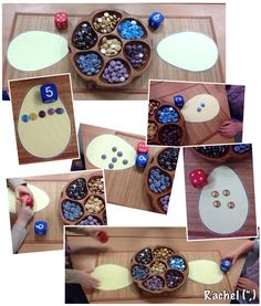 "Easter egg dice game - from Rachel ("",)"