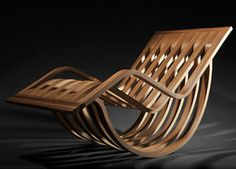 Design: Miri Mizrahi, Tel Aviv, Israel Materials: Bent wood, Sustainable Zebra wood veneer.