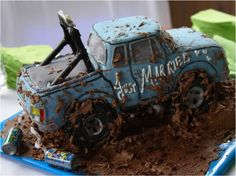 Grooms Cake Ideas - Bing Images-This idea, but with his four-wheeler!