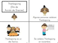 Printable emergent books in Spanish for fall and winter topics (Kindergarten or 1st grade)