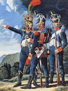 uniforms of the Chasseurs à pied peninsular war - Google Search