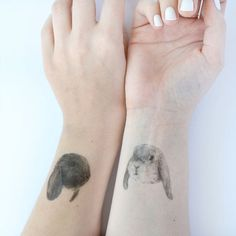 temporary tattoos  3 fake bunny tatts  bunny by helloharriet