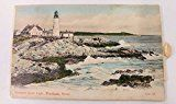 #10: Portland Maine Lighthouse Street Scenes Pull Out Views Novelty Postcard J66916