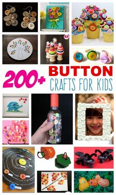 Over 200 Button Crafts for Kids! is part of Button crafts For Kids - We've collected over 200 button crafts that use buttons as the main supply and those that use them for embellishments You'll want to save this page for future button creativity! Button Crafts For Kids, Crafts To Make, Easy Crafts, Arts And Crafts, Kids Crafts, Summer Crafts, Craft Activities For Kids, Projects For Kids, Diy For Kids