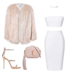 """""""Untitled #248"""" by ipinkiee ❤ liked on Polyvore featuring Sans Souci, Giuseppe Zanotti and Yves Saint Laurent"""