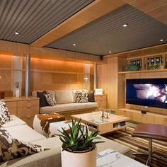 contemporary basement by Princeton Design Collaborative