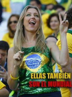 Ellas en el Mundial de Brasil. 12 Junio 2014