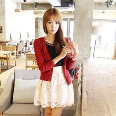 Korea Womens Luxury Shopping Mall [mimindidi] Mini Twist ♡ cd / Size : FREE / Price : 20.95 USD #korea #fashion #style #fashionshop #apperal #luxury #lovely #mimididi #knit #cardigan #dailylook